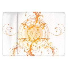 Orange Swirls Samsung Galaxy Tab 10 1  P7500 Flip Case by SheGetsCreative