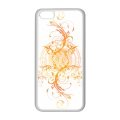 Orange Swirls Apple Iphone 5c Seamless Case (white) by SheGetsCreative