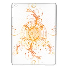 Orange Swirls Ipad Air Hardshell Cases by SheGetsCreative
