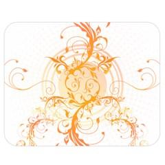 Orange Swirls Double Sided Flano Blanket (medium)  by SheGetsCreative