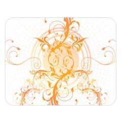 Orange Swirls Double Sided Flano Blanket (large)  by SheGetsCreative
