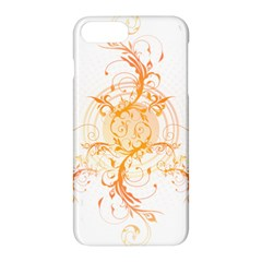 Orange Swirls Apple Iphone 7 Plus Hardshell Case by SheGetsCreative
