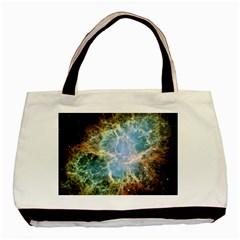 Crab Nebula Basic Tote Bag (two Sides) by SheGetsCreative