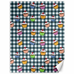 Cupcakes Plaid Pattern Canvas 36  X 48   by Valentinaart