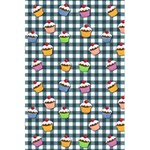 Cupcakes plaid pattern 5.5  x 8.5  Notebooks Back Cover