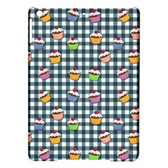 Cupcakes Plaid Pattern Ipad Air Hardshell Cases by Valentinaart