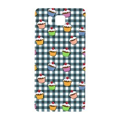 Cupcakes Plaid Pattern Samsung Galaxy Alpha Hardshell Back Case by Valentinaart