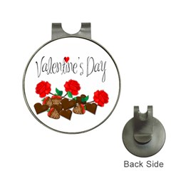 Valentine s Day Gift Hat Clips With Golf Markers by Valentinaart