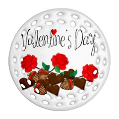 Valentine s Day Gift Round Filigree Ornament (two Sides) by Valentinaart