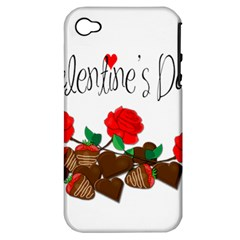 Valentine s Day Gift Apple Iphone 4/4s Hardshell Case (pc+silicone) by Valentinaart