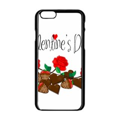 Valentine s Day Gift Apple Iphone 6/6s Black Enamel Case by Valentinaart