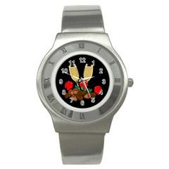 Valentine s Day Design Stainless Steel Watch by Valentinaart