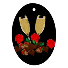 Valentine s Day Design Oval Ornament (two Sides) by Valentinaart