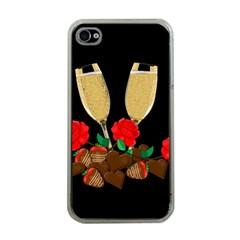 Valentine s Day Design Apple Iphone 4 Case (clear) by Valentinaart