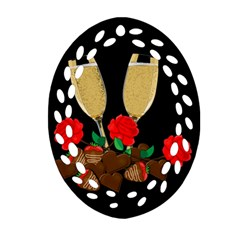 Valentine s Day Design Oval Filigree Ornament (two Sides) by Valentinaart
