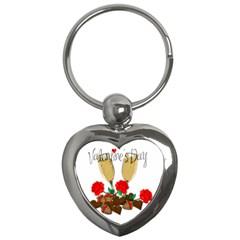 Valentine s Day Romantic Design Key Chains (heart)  by Valentinaart