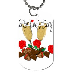 Valentine s Day Romantic Design Dog Tag (two Sides) by Valentinaart