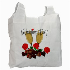 Valentine s Day Romantic Design Recycle Bag (two Side)  by Valentinaart