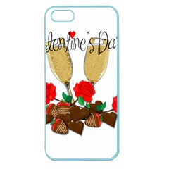 Valentine s Day Romantic Design Apple Seamless Iphone 5 Case (color) by Valentinaart