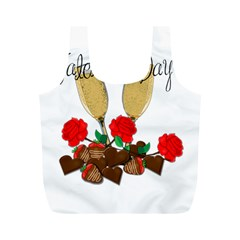 Valentine s Day Romantic Design Full Print Recycle Bags (m)  by Valentinaart