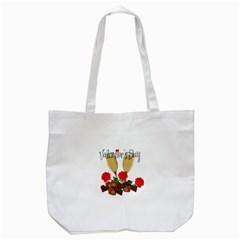 Valentine s Day Romantic Design Tote Bag (white) by Valentinaart