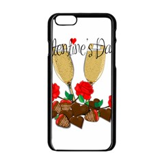 Valentine s Day Romantic Design Apple Iphone 6/6s Black Enamel Case by Valentinaart