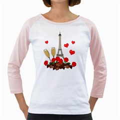 Romance in Paris Girly Raglans by Valentinaart
