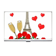 Romance In Paris Business Card Holders by Valentinaart
