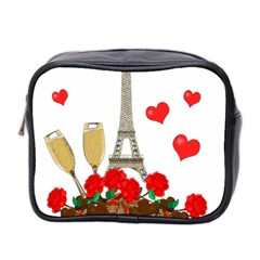 Romance In Paris Mini Toiletries Bag 2 Side by Valentinaart