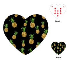Pineapples Playing Cards (heart)  by Valentinaart