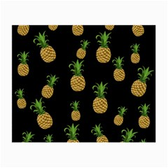 Pineapples Small Glasses Cloth (2 Side) by Valentinaart