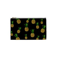Pineapples Cosmetic Bag (small)  by Valentinaart