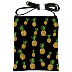 Pineapples Shoulder Sling Bags by Valentinaart