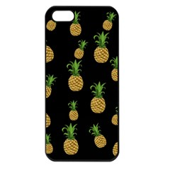 Pineapples Apple Iphone 5 Seamless Case (black) by Valentinaart