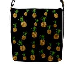 Pineapples Flap Messenger Bag (l)  by Valentinaart