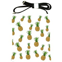 Pineapples Pattern Shoulder Sling Bags by Valentinaart