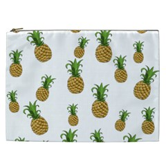 Pineapples Pattern Cosmetic Bag (xxl)  by Valentinaart