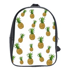 Pineapples Pattern School Bags (xl)  by Valentinaart
