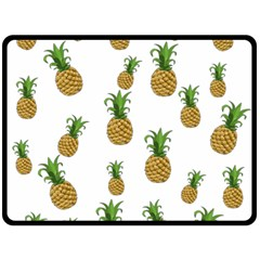 Pineapples Pattern Double Sided Fleece Blanket (large)  by Valentinaart