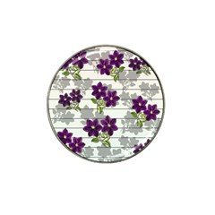 Purple Vintage Flowers Hat Clip Ball Marker (10 Pack) by Valentinaart