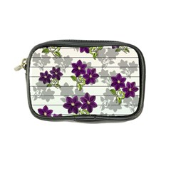 Purple Vintage Flowers Coin Purse by Valentinaart