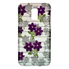 Purple Vintage Flowers Galaxy S5 Mini by Valentinaart