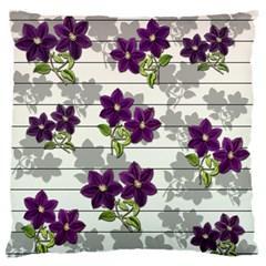 Purple Vintage Flowers Standard Flano Cushion Case (one Side) by Valentinaart