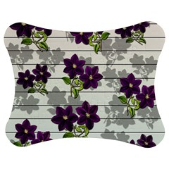 Purple Vintage Flowers Jigsaw Puzzle Photo Stand (bow) by Valentinaart