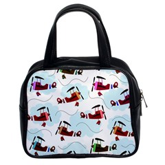 Airplanes Pattern Classic Handbags (2 Sides) by Valentinaart