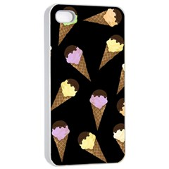 Ice Cream Cute Pattern Apple Iphone 4/4s Seamless Case (white) by Valentinaart