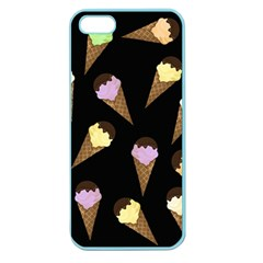 Ice Cream Cute Pattern Apple Seamless Iphone 5 Case (color) by Valentinaart
