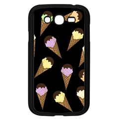 Ice Cream Cute Pattern Samsung Galaxy Grand Duos I9082 Case (black) by Valentinaart