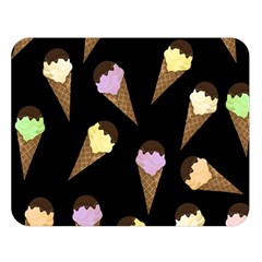 Ice Cream Cute Pattern Double Sided Flano Blanket (large)  by Valentinaart