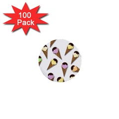 Ice Cream Pattern 1  Mini Buttons (100 Pack)  by Valentinaart